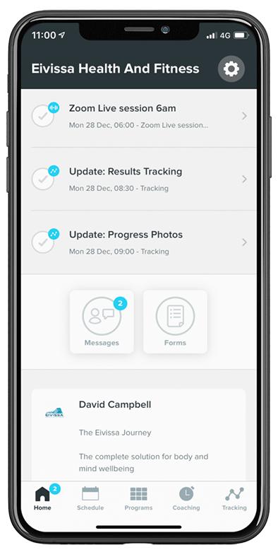 The Eivissa Mobile fitness App